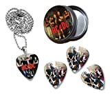 ACDC Collection With 3 Double Sided Loose Guitar Médiators Picks and Collier in Tin