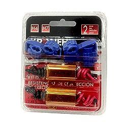 2 x LASTWIDERSTAND 25 Watt 6 Ohm + Kabelklemmen für LED SMD,Tagfahrlicht,Blinker,Hinterbeleuchtung