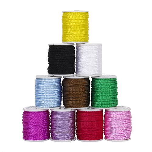 Healifty corda fili per gioielli diy fai da te 1 mm colorati 10pcs