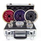 Diamant-Bohrkronen Set M14 25/35/40/50/68 mm + 3 Trennscheiben 125mm Fliesen | LM, BM, FM1.2