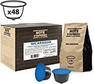 Note d'Espresso Nicaragua Coffee Capsules Exclusively Compatible with Nescafé* and Dolce Gusto* capsule machines 7g x 48 Cap