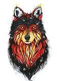 WOLF Tattoo Tier Tattoo Fake Tattoo Einmal Tattoo zum Kleben KM123