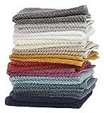 Living Fashions Waschlappen, 12er, 100% Extra Soft ringgesponnener Baumwolle, Größe, weich und saugfähig, maschinenwaschbar, Leuchtende Farben 13