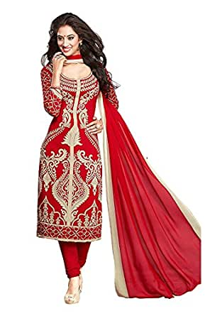 Shiroya Brothers Women's Ethnic Wear Poly Creap Unstitched Regular Wear Salwar Suits Dress Material