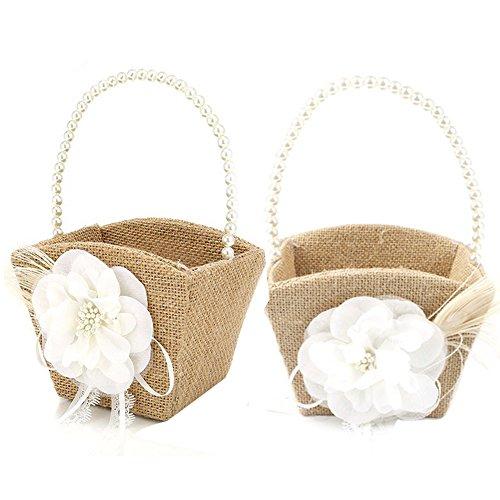 Awtlife 2pcs rústico Burlap boda flores