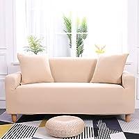 Preisvergleich für DW&HX Elastische slipcover volltonfarbe,Sofabezug elastischen riemen 1,2,3,4,5 sitze Perfekt für kinder und haustiere Anti-rutsch Sofa protector -I 4 Sitzer