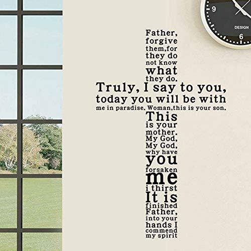 Cmhai Jesus Christus Wirklich Ich Sage Ihnen Englisch Text Abnehmbare Vinyl Wandaufkleber Abziehbilder Living Home Decor Kirche Wand Kunst ()