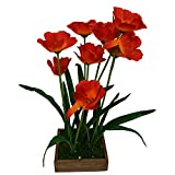 #9: Fancymart Artificial Flower Cosmos (50 cm/ 20 inchs) in wood square Planter-1771