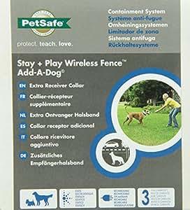 PetSafe Collier-récepteur supplémentaire Add-A-Dog pour le système anti-fugue sans fil Stay + Play Wireless Fence
