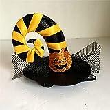 lkouq Animali Domestici Cappelli per Feste di Halloween Costumi Ragno Cappello di Zucca Cani Gatti Strega Mazze Tazze Decorazioni per Feste di Halloween Come Spettacolo Fotografico