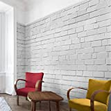 Vliestapete–Weiß Stonewall–Wandbild breit