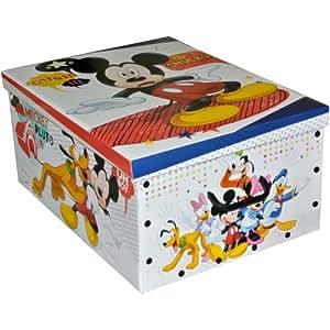 Grande Boite Rangement Coffre à Jouets Enfant Disney Mickey