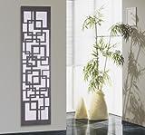 Badheizkörper Design Quadrat 3, HxB: 180 x 47 cm, 1118 Watt, weiß / dunkelgrau (metallic) (Marke: Szagato) Made in Germany / moderner Bad und Wohnraum-Heizkörper (Mittelanschluss)