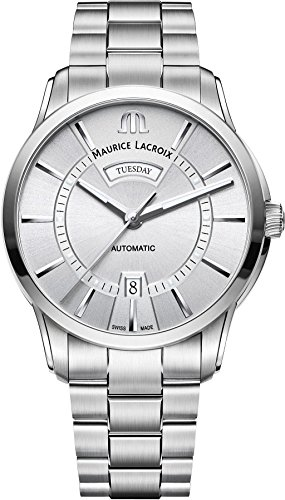 Maurice Lacroix PONTOS DAY DATE PT6358-SS002-130-1 Automatic Mens Watch Classic & Simple