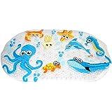WARRAH Alfombra de baño multiusos / material de PVC para la estera de la estera del bebé no estera para los niños y la ducha Octopus Fish