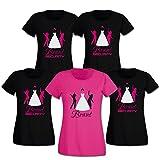 Braut & Braut Security Junggesellinnen-Abschied Damen T-Shirts 258.001 (M, Motiv Begleitung (schwarz))