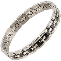 sisto-x ® Herren Damen 2Tone Titan Magnettherapie Armband NdFeB Geschenkbox preisvergleich bei billige-tabletten.eu