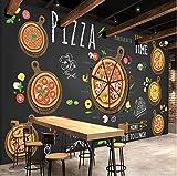 VVNASD 3D Murales Sfondo Parete Adesivi Decorazioni Pizzeria Astratta Decorazione della Pasticceria da caffè E da Dessert Arte Bambini Camera (W) 300X(H) 210Cm