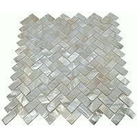 ECHTE Mutter Von Pearl Oyster Herringbone Shell Mosaik Fliese Für Küche  Backsplashes, Das Badezimmer,