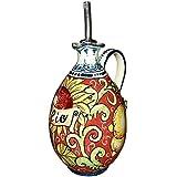 CERAMICHE D'ARTE PARRINI- Italienische Kunstkeramik, Menage Öl, Dekoration, Zitronen und Sonnenblumen, handgemalt, hergestellt in Italien Toscana