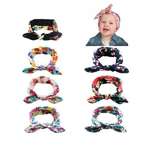 COUXILY Baby Bandeau Super Extensible Turban Headwrap noués pour Les Bambins et Les Enfants infantiles (A01)