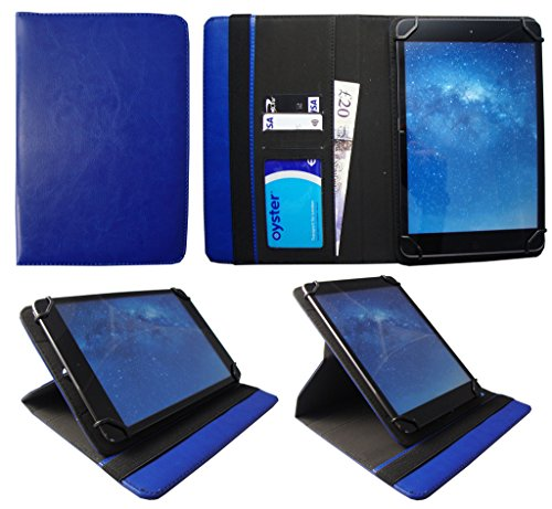 Sweet Tech Teclast X80 Power / X80 Pro 8 Inch Tablet Blue Universal 360 Degree Rotating PU Leather Wallet Case Cover Folio (7-8 inch)