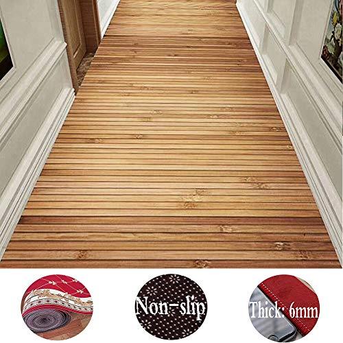 ZENGAI-Läufer Teppich Flur Läufer Teppich Flur rutschfest Streifen Polyester Teppiche, Anpassbar (Color : A, Size : 1.2x4m)
