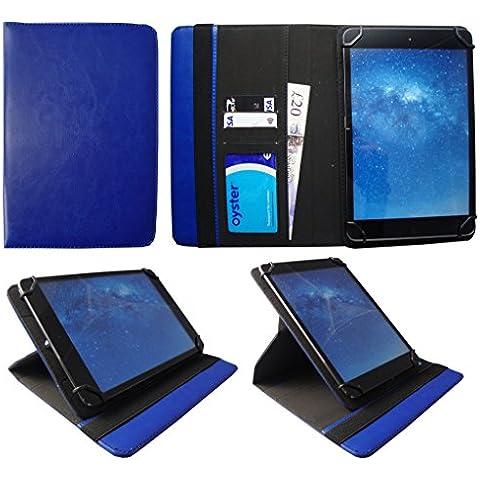 i-Joy Memphis Tablet 10.1 Pulgadas Azul Universal 360 Grados de Rotación Cuero PU Funda Carcasa Case Cover de Sweet Tech