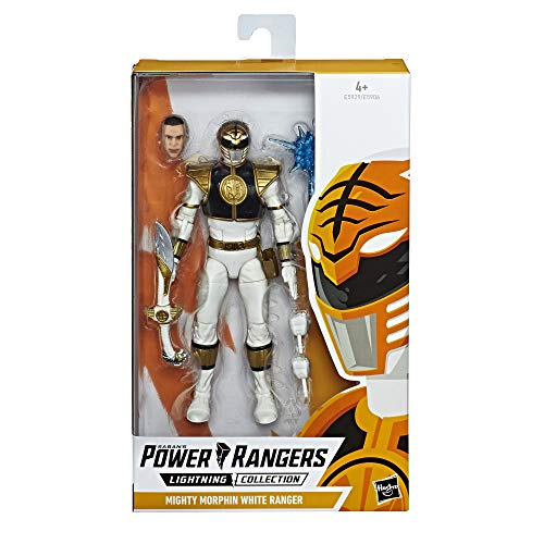 Kind Power Grünes Ranger Kostüm - Power Rangers E5929ES0 Lightning Collection, 15 cm große Mighty Morphin Weißer Ranger Action-Figur zum Sammeln