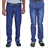 ALLY of Focker Combo of 2 Basic, Raw Blue Stretchable Jeans.