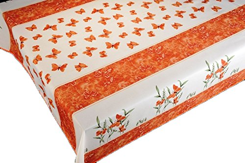 ExclusivoCIR Set Papillons Oranges gaufree Anti-Taches Couleurs Primaverales Decoracion Hogar 100 x 140
