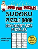 Poop Time Puzzles Sudoku Puzzle Book, 200 Giant Size Puzzles, 100 Medium and 100 Hard: One Gigantic Puzzle Per Letter Size Page: Volume 28