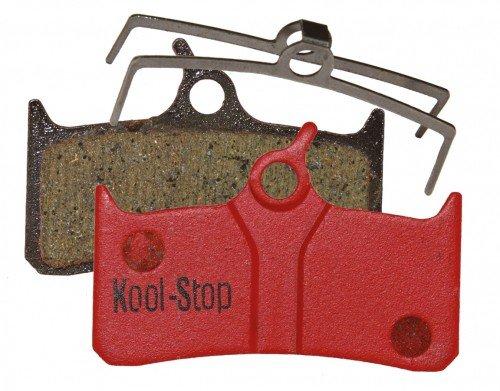 Kool-Stop Disk Brake Pads Shimano XT M755, SRAM, Hope Mono Tech M4, GRIMECA System 8Pastiglie Freno, Rosso, Taglia U