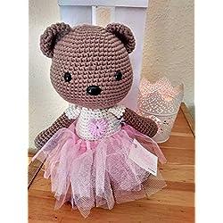 Oso de peluche, osito amigurumi, oso de peluche, bebé, regalo para bebé, osito a crochet, regalo infantil, osa bailarina