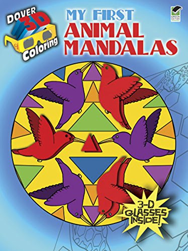 My First Animal Mandalas (Dover 3-D Coloring Book)