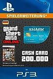 Grand Theft Auto Online | GTA V Tiger Shark Cash Card | 200,000 GTA-Dollars | PS3 Download Code - deutsches Konto