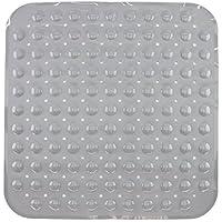 Tapis de fond de baignoire anti-dérapant / tapis de salle de bain / Tapis de douche avec ventouses - Coloris: Gris - env. 53 x 53 cm - de Brandsseller