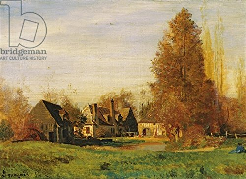 leinwand-bild-60-x-40-cm-farmyard-oil-on-canvas-bild-auf-leinwand