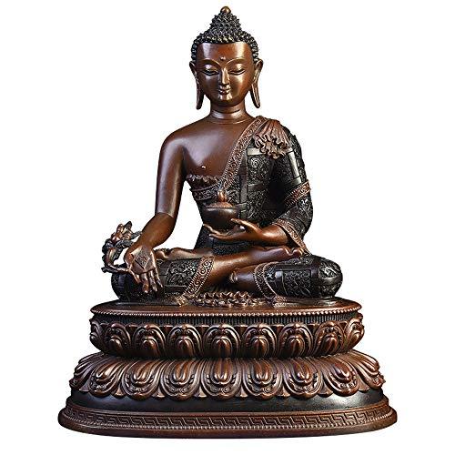 DDCYY Skulptur, Statue Aus Reinem Kupfer, Buddha-Statue des Apothekers, Schreibtischsammlung, Hausskulptur, GlüCkverheißEndes Geschenk (11 X 8 X 17 - Apotheker Kostüm