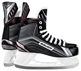 Bauer Vapor X200 Youth Pattini Hockey su Ghiaccio Pattini da Ghiaccio, Bambini, Schlittschuh Vapor X200 Youth, Nero/Argento, 07.0/25.0