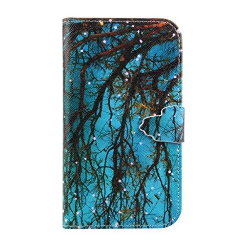 Apple iphone 6 Plus Case Cover, iphone 6S Plus custodia portafoglio, Pelle Custodia per iphone 6 Plus/6S Plus, Ukayfe Anti Scratch morbida copertura posteriore del silicone colorato Carino elefante Pa Alberi con le luci