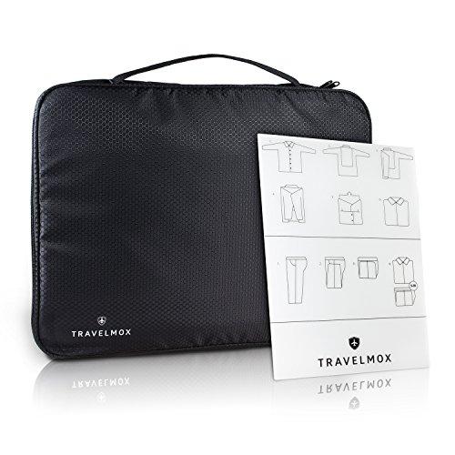 TRAVELMOX Premium Blusen- und Hemdentasche | Faltenfreie Kleidung auf Geschäfts- und Privatreisen | Tasche für Hartschalenkoffer oder als Handgepäck für Herren, Damen, Hemd oder Bluse (Schwarz)