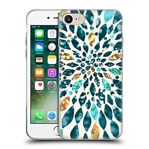 Offizielle Tangerine-Tane Schildkröten Texture & Muster Soft Gel Hülle für Apple iPhone 6 / 6s Glitter Dahlie