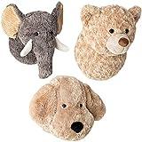 3 animalitos de Peluche: Elefante, Osito y Perrito de Unos 24 x 26 x
