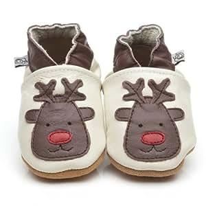 Chaussons Bébé en cuir doux - Renne - 12/18 mois