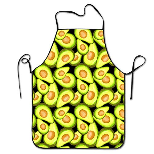 Fruit Avocado Pattern Schürzen Lätzchen Mens Womens Lace Adjustable Polyester Chef Cooking Long Full Kitchen Aprons BBQ Grill Funny Aprons Lefse Grill