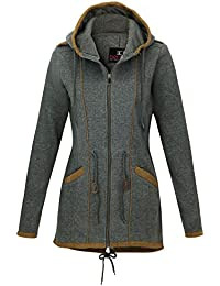 44573fe27ba9 Be Cool Damen Übergangsjacke Herbst Winter Zipper Sweatjacke Kapuzen Jacke  Mantel BC-1510B