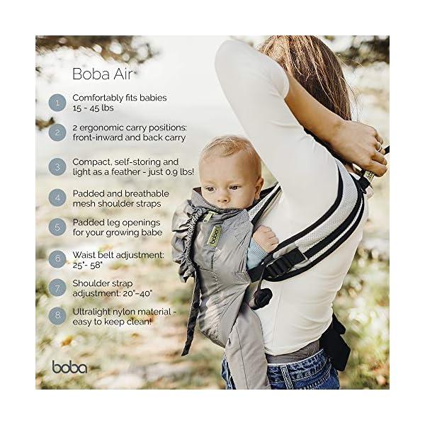 Boba – Mochila Portabebé ultraligera Boba Air, Black