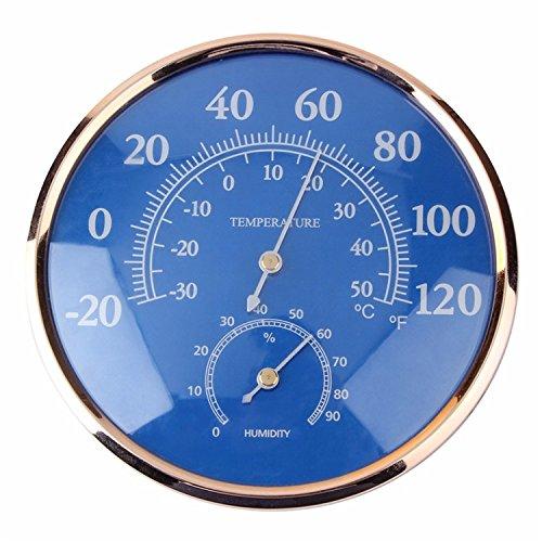 Tutoy Großer Runder Fahrenheit Celsius Thermometer Hygrometer Temperatur Feuchtigkeitsmesser Messgerät Messgerät