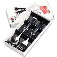 MEICHEN Idee regalo di cucina creatività Regali San Valentino possono essere amore-maniglia di posate forchetta cucchiaio portatile due pezzi set